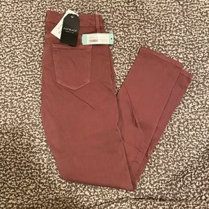 Just Black Addison skinny jeans - grape/burgundy
